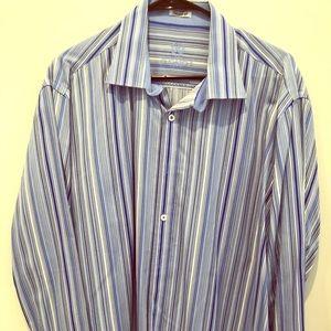 Blue Bugatchi long sleeve